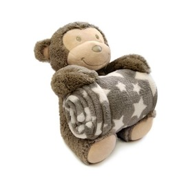 Children blanket with plush monkey, Bobas