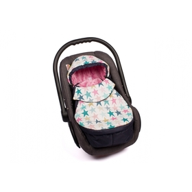 Footmuff for car seats Stars pink, Gluck Baby