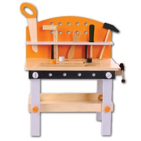 Wooden workbench for children, EcoToys