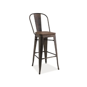 Bar stool LOFT walnut / graphite, SIGNAL MEBLE