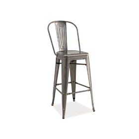 Bar chair  LOFT cut steel, SIGNAL MEBLE