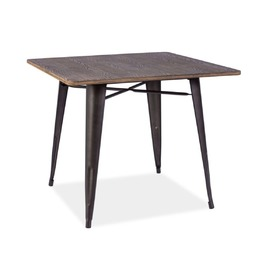 Dining table ALMIR 90x90 walnut / graphite, SIGNAL MEBLE