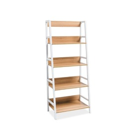 Bookshelf OLSEN A oak / white, SIGNAL MEBLE