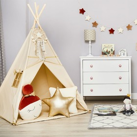 Teepee with washer Gold Ecru, funwithmum