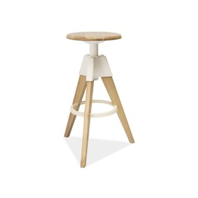 Bar chair BODO white/ oak