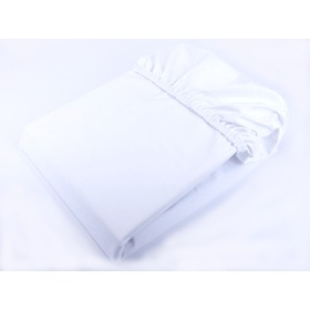 Waterproof cotton sheet - white