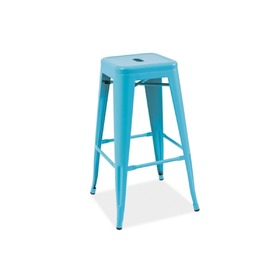 Bar stool LONG blue, SIGNAL MEBLE