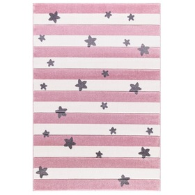 Children's rug STARS STRIPES pink