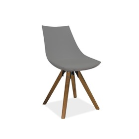 Dining chair LENOX beech / gray, SIGNAL MEBLE