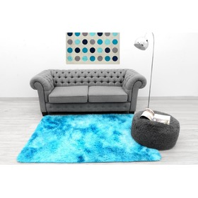Children's plush rug Ombre blue, Podlasiak