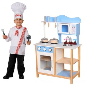 Children's wooden kitchenette with equipment, EcoToys
