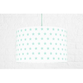 Textile hanging lamp Stars - mint, YoungDeco