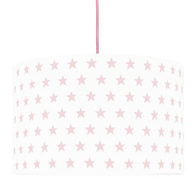 Textile hanging lamp Stars - pink, YoungDeco