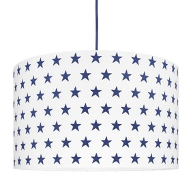 Textile hanging lamp Stars - dark blue, YoungDeco
