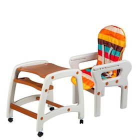 Children dining small chair 3v1 - brown, EcoToys