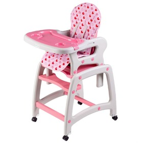 Small dining chair for children 3v1 - pink, EcoToys