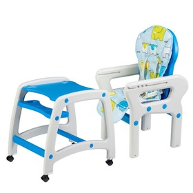 Children dining small chair 3v1 - blue, EcoToys