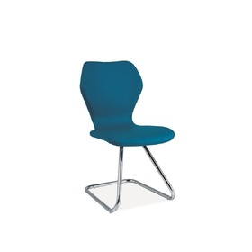 Dining chair H-677 blue, SIGNAL MEBLE