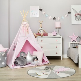 Teepee with mat Silver Pink