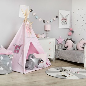 Teepee with mat Silver Pink, funwithmum