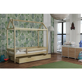 Cot small house Paul - natural, Ourbaby