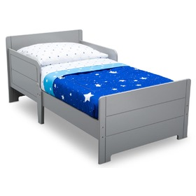Children's wooden bed - grey, Delta