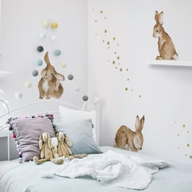 Wall decoration DEKORNIK Happy rabbits, Dekornik