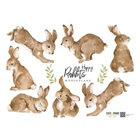 Wall decoration DEKORNIK Happy rabbits