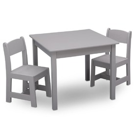 Children table with chairs grey, Delta