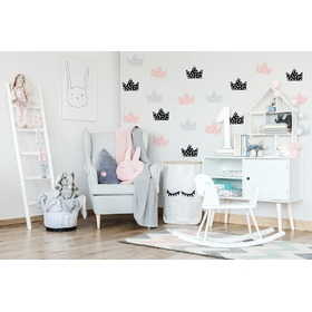 Decoration to wall Crown gray-black-pink, Mint Kitten