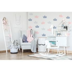 Decoration to wall Crown gray-grafito-pink, Mint Kitten