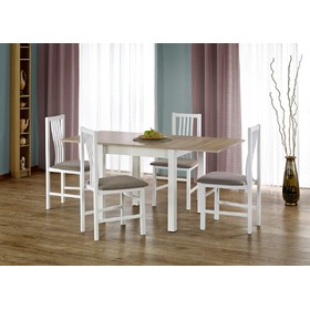 Dining convertible table Gracjan oak sonoma / white, Halmar