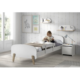 Children bed Kiddy white, VIPACK FURNITURE