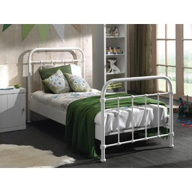 Metal bed New York white, VIPACK FURNITURE