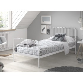 Metal bed Alice white, VIPACK FURNITURE