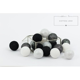 Cotton shining balls silver, cottonovelove