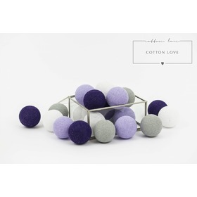 Cotton shining balls purple, cottonovelove