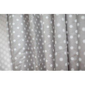 Curtains for children grey with white dots 2, Dom-Dekor
