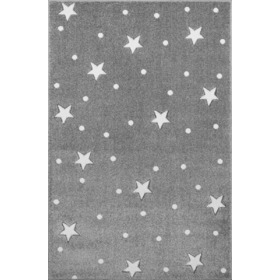 Children's rug HEAVEN silver-gray/ white