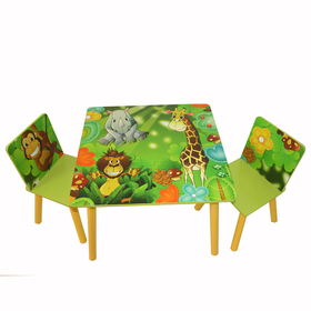 Children's table with chairs Jungle