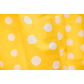Curtains for children Yellow with dots 101, Dom-Dekor