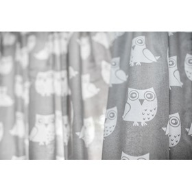 Curtains for children grey with owls 21, Dom-Dekor