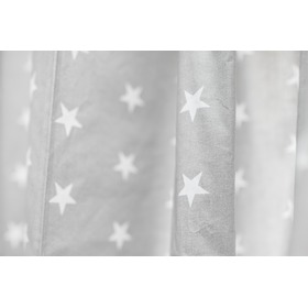 Curtains for children grey with white stars 18