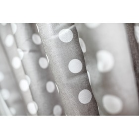 Curtains for children grey with white dots 3, Dom-Dekor