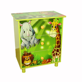 Children's chest of drawers Jungle, Homestyle4u