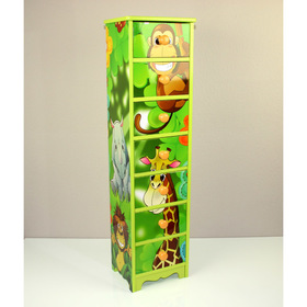 Children's chest of drawers Jungle - 7 drawers, Homestyle4u