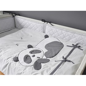 Children 2-piece bedding Panda - grey, Modenex