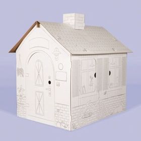 Children's cardboard house with chimney, Nefere
