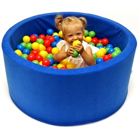 Dry pool with balls dark blue, Welox