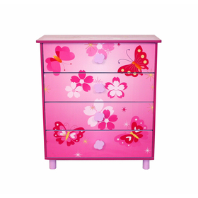 Children's chest of drawers butterflies, Homestyle4u